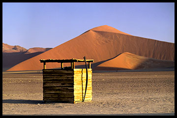 Outhouse at Dune 45, Namibia